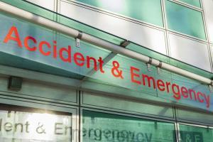 Accident and Emergency Department sign
