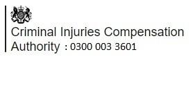 Criminal Injuries Compensation Authority helpline 0300 003 3601