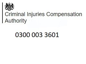 Criminal Injuries Compensation Authority Helpline 0300 003 3601