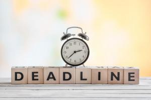 Claim deadline sign